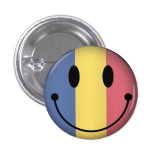 Romania Smiley 1 Inch Round Button