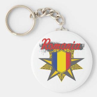 Romania Star Keychain