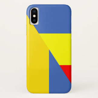 romania ukraine flag country half symbol iPhone x case