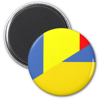 romania ukraine flag country half symbol magnet
