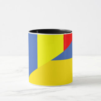 romania ukraine flag country half symbol mug