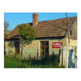 Romania, village house for sale postcard