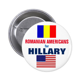 Romanian Americans for Hillary 2016 2 Inch Round Button
