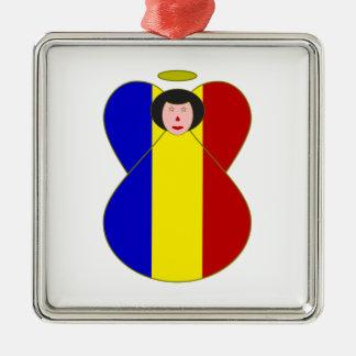 Romanian Angel Metal Ornament