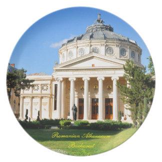 Romanian Athenaeum in Bucharest, Romania Dinner Plate