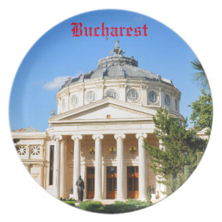 Romanian Athenaeum in Bucharest, Romania Plate