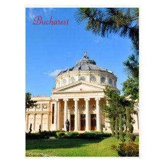 Romanian Athenaeum in Bucharest, Romania Postcard