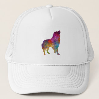 Romanian Carpathian Shepherd Dog in watercolor Trucker Hat