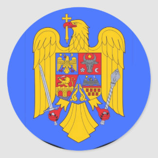 Romanian Coats of Arms Classic Round Sticker