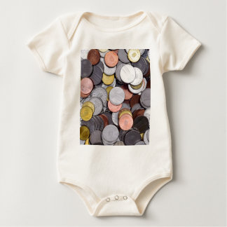 romanian coins baby bodysuit
