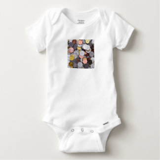 romanian coins baby onesie