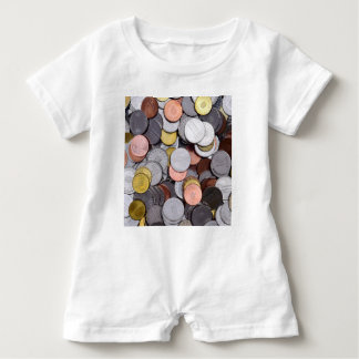 romanian coins baby romper