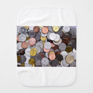 romanian coins burp cloth