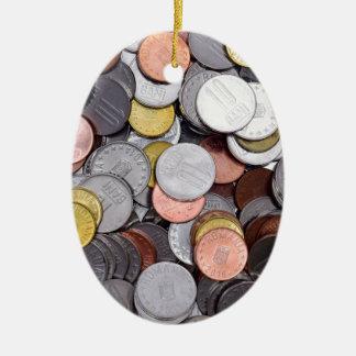 romanian coins ceramic ornament