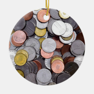 romanian coins ceramic ornament