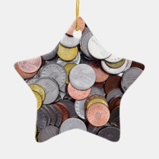 romanian coins ceramic star ornament