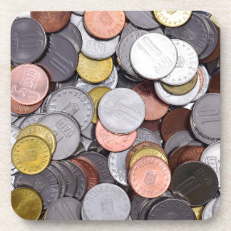 romanian coins coaster