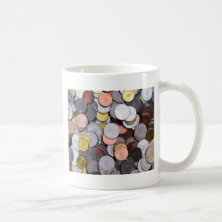 romanian coins coffee mug