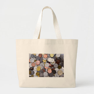 romanian coins large tote bag
