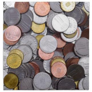 romanian coins napkin
