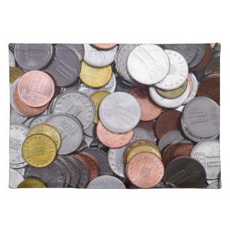 romanian coins placemat