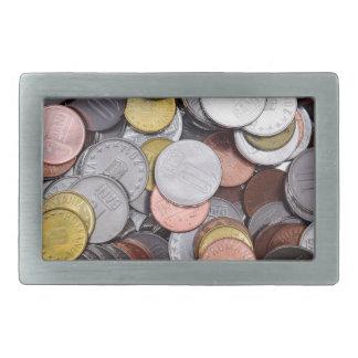 romanian coins rectangular belt buckle