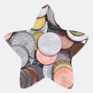 romanian coins star sticker