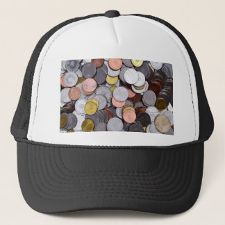 romanian coins trucker hat