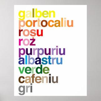 Romanian Colors Poster