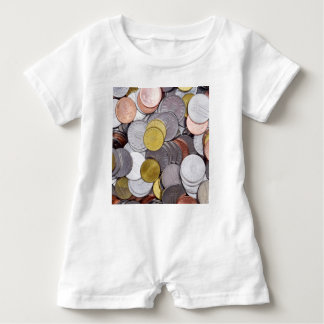 Romanian currency coins baby romper