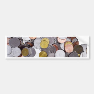 Romanian currency coins bumper sticker
