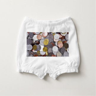 Romanian currency coins diaper cover