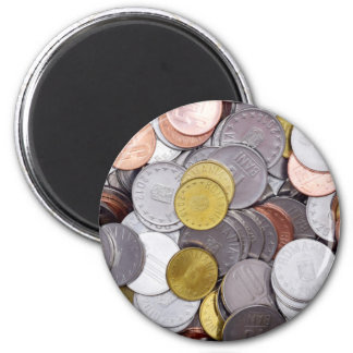 Romanian currency coins magnet