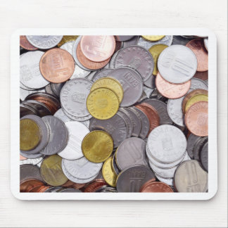 Romanian currency coins mouse pad