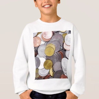 Romanian currency coins sweatshirt