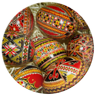 Romanian Easter Eggs Porcelain Plates