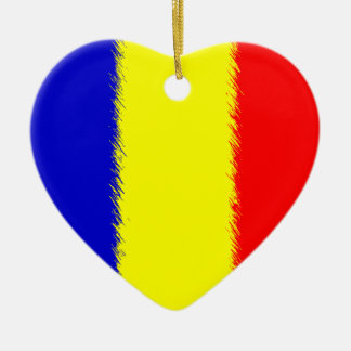 Romanian Flag Ceramic Ornament