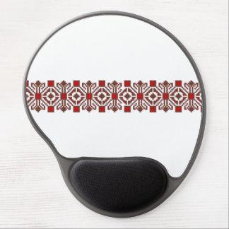 romanian folk costume stitch geometric floral art gel mouse pad