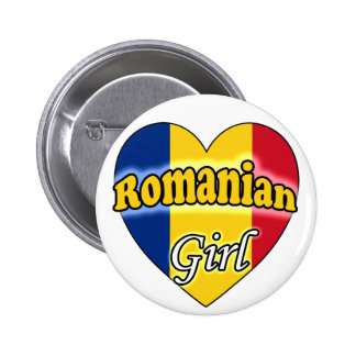Romanian Girl 2 Inch Round Button