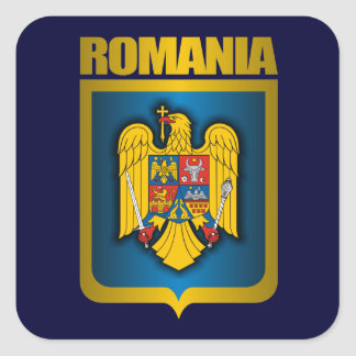 Romanian Gold Square Sticker