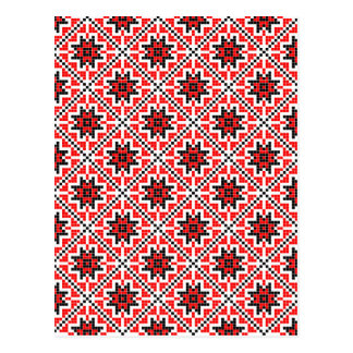romanian traditional ethnic costume motif seamless postcard