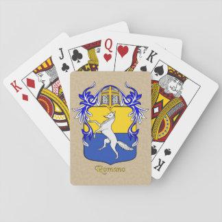Romano Heraldic Shield and Mantle Poker Deck