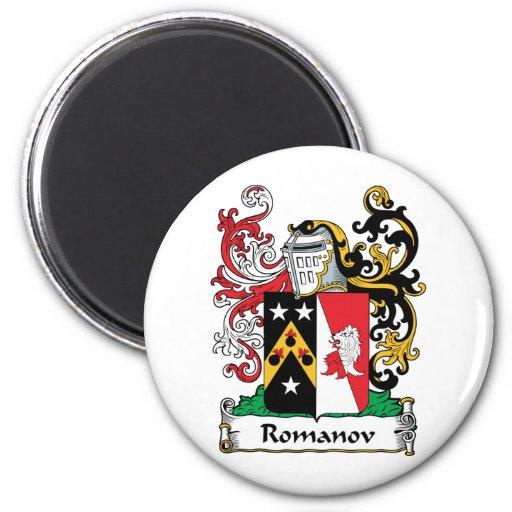 Romanov Family Crest 2 Inch Round Magnet