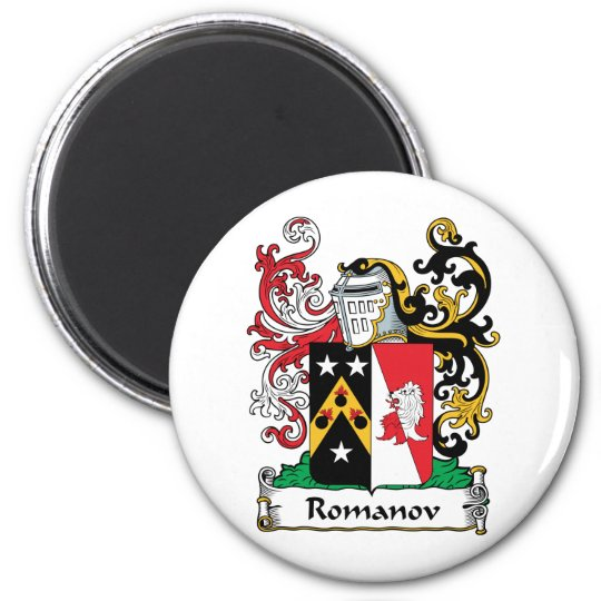 Romanov Family Crest 2 Inch Round Magnet