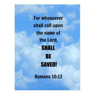 Romans 10:13 postcard
