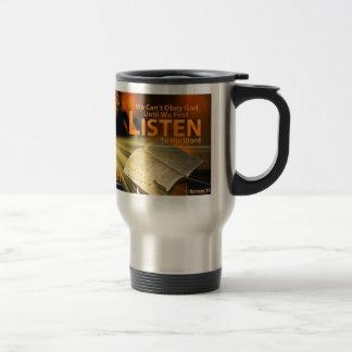 Romans 10:17 travel mug