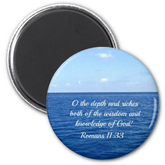 Romans 11:33 2 inch round magnet