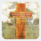Romans 12:10 Bible Verse about LOVE Square Sticker