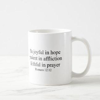 Romans 12:12 Coffee Mug Be Joyful in Hope
