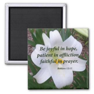 Romans 12:12 magnet